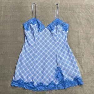 Victoria's Secret Lace Plaid Lingerie Chemise!